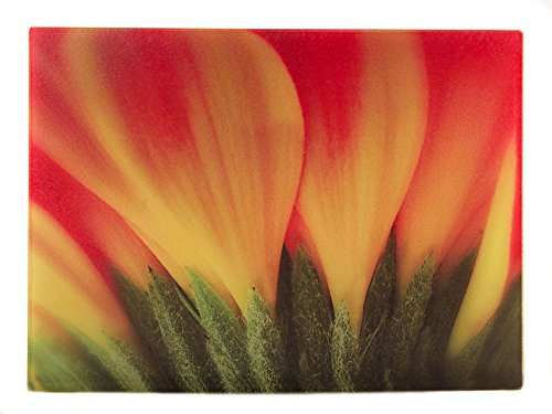 McAulay Arts Glass Cutting Board Orange DaisyFlower 1525 x 1125