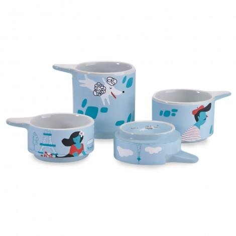Kitschn Glam Novelty Animal Ceramic Measuring Cups and Stacking Bowls Measuring Cups Paris