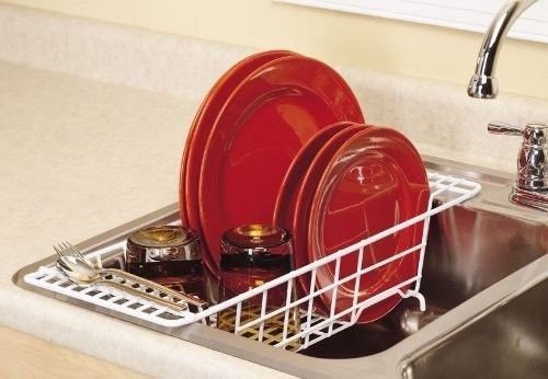 Generic Home Cl the Sink Home the Sink Home Dining Over Sink H Dish Rack Drainer chen Closetmaid New r Storage White Storage White Kitchen