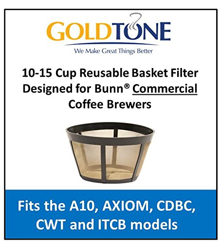 GoldTone 10-15 Cup Reusable Basket Filter Designed for Bunn Commercial Coffee Brewers