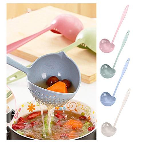 Fantastick Kitchen Functional Hot Pot Soup Spoon Colander 2 in 1 Daily Useful Cooking Tools