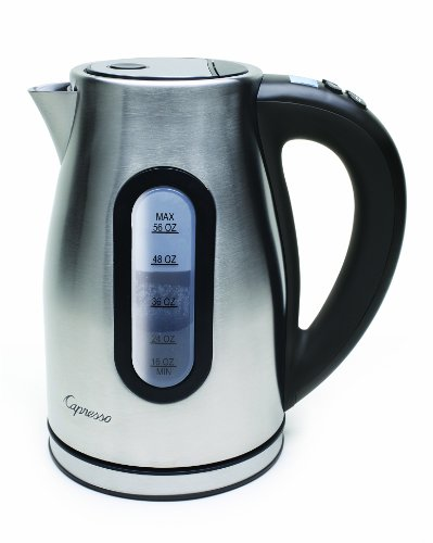 Capresso 27604 H2O Pro Programmable Cordless Water Kettle Brushed Stainless Steel