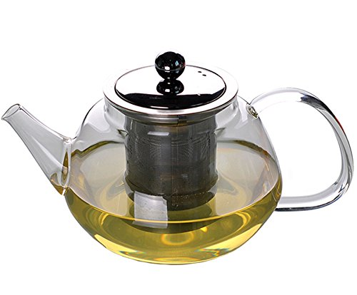 Xiazhi High-temperature Glass Teapot with InfuserGlass Water KettleStovetop Safe 700ml