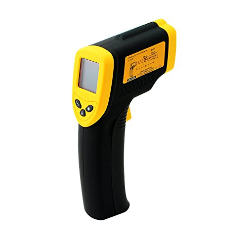 Carejoy DT-8380 Non-Contact Infrared IR Thermometer Instant-read Digital Temperature Gun with Laser Sight and Backlit LCD Measures in Celsius or Fahrenheit -32 to 380C-26 to 716F
