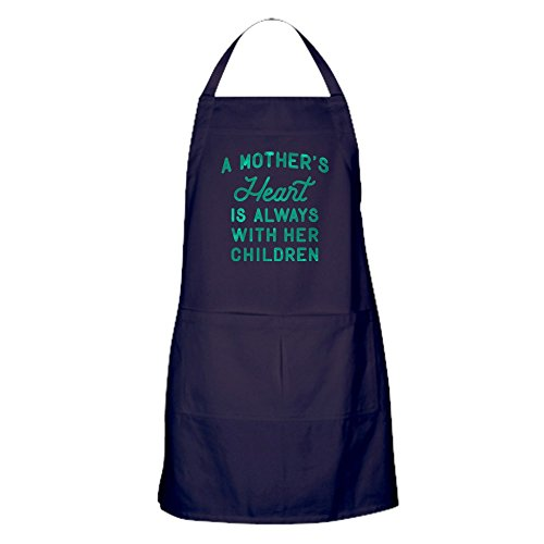 CafePress - A Mothers Heart Green - Kitchen Apron with Pockets Grilling Apron Baking Apron