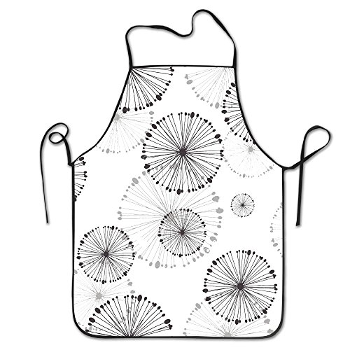 Chefs Apron Pattern Of Dandelion Funny Kitchen Aprons Cooking Apron