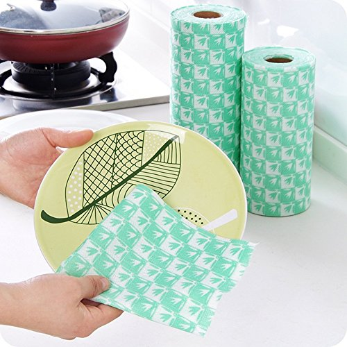 Bamboo Fiber Water Absorbent Rag Disposable Dish Cloths Thickened Dish Towel-Not Wool Off S