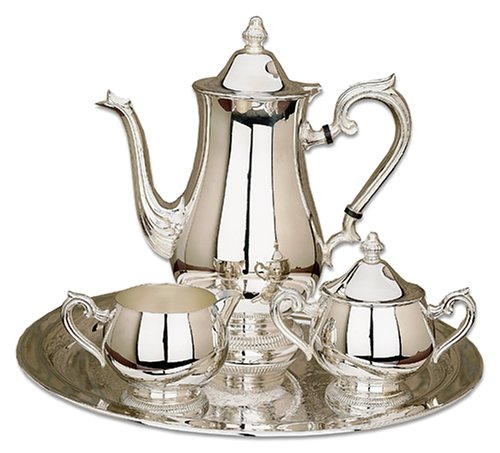 Reed Barton Silver-plated Gadroon Silver-plated 4 Piece Coffee Set