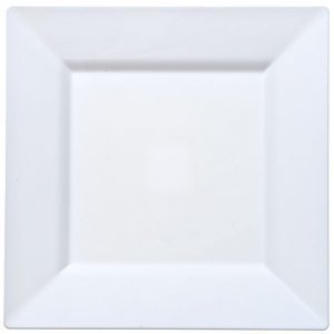 Square Plastic Plates 95-White-12 pack