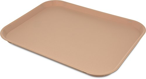 Carlisle 1418PC25 Plastic CafeCafeteriaFast Food Tray NSF Certified Polycarbonate 17 Length x 12 Width Tan Pack of 12