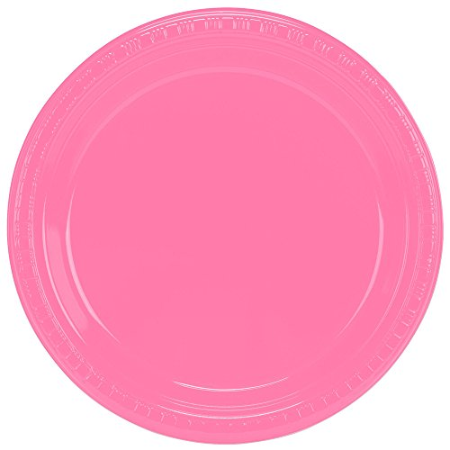 Creative Converting 28304221 9 Candy Pink Plastic Plate - 20Pack