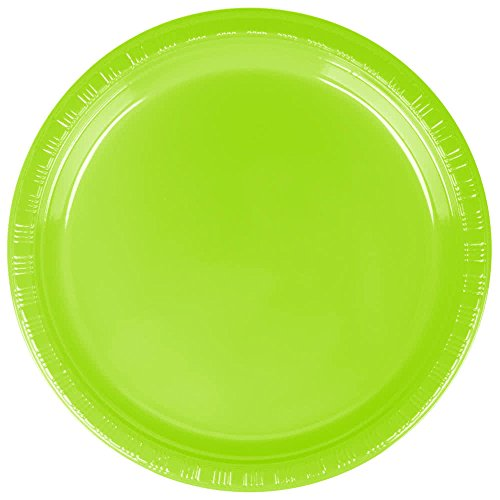 28312311 7 Fresh Lime Green Plastic Plate - 240Case By TableTop King