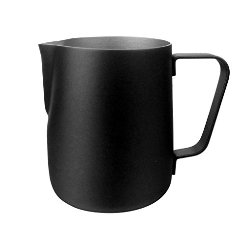 Generic Stainless Steel Milk Frother Tea Coffee Expresso Latte Art Pitcher Jug Frothing Cup 350ML600ML - Black 600ml