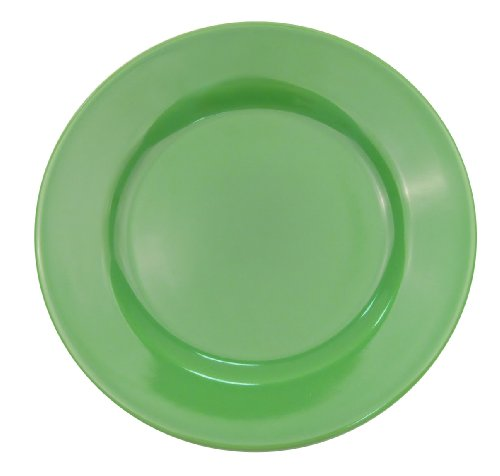 CAC China LV-16-G Las Vegas Rolled Edge 10 12-Inch Green Stoneware Plate Box of 12