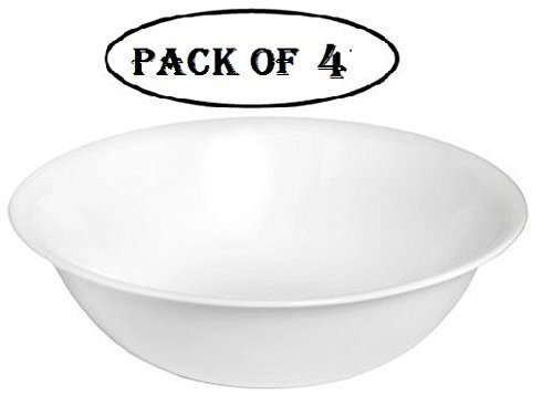 Corelle Livingware 1-quart Serving Bowl Winter Frost White Pack of 4