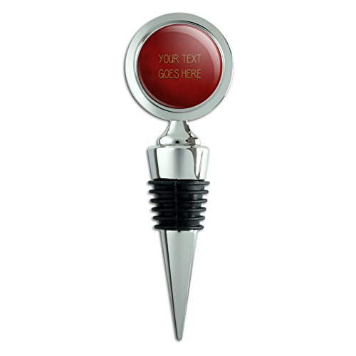 Graphics and More Personalized Custom Red Textured Background Any Occasion Wine Bottle Stopper