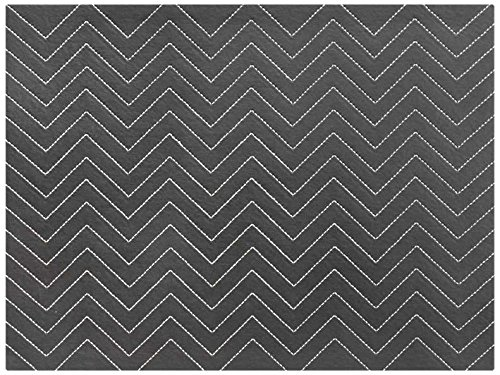 Harman Chevron Hardboard PVC Faux Leather Placemat Graphite 4-Pack