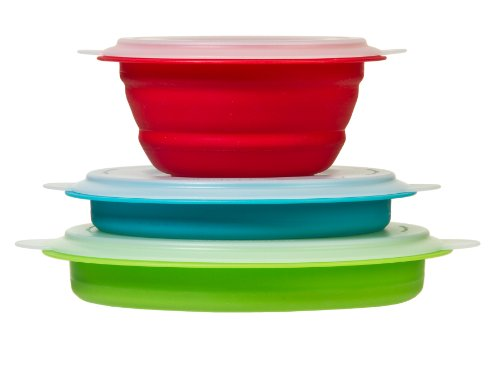 Prepworks by Progressive Collapsible PrepStorage Bowls with Lids - Set of 3