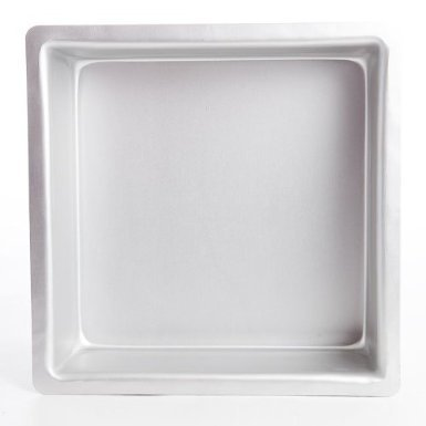 PME Seamless Professional Square Cake Tin Pan 3 Inch Deep - 7 x 7 Inch