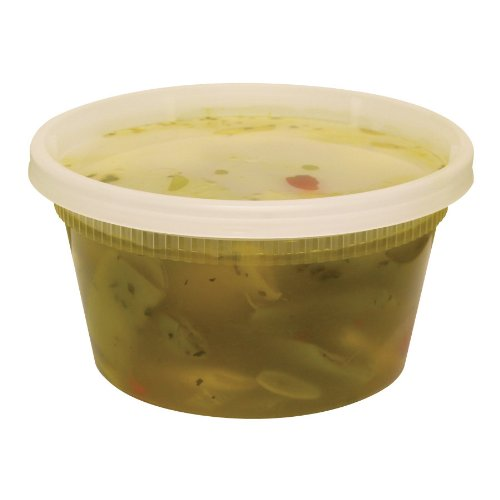 Pack of 10 Plastic Deli Container  12 oz DELItainer
