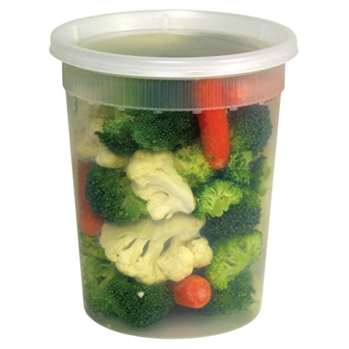 Pack of 10 Quart Plastic Deli Container  32 oz DELItainer