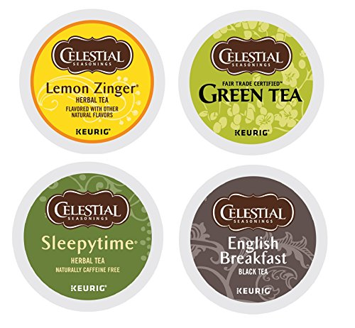 Celestial Seasonings Tea Sampler Keurig Single-Serve K-Cup Pods Variety Pack 22 Count