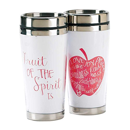 Red Fruit of the Spirit 16 Oz Stainless Steel Insulated Travel Mug with Lid