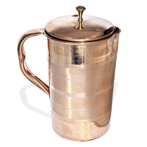 Craft-View India Pure Copper Water Jug Drinkware Tableware Pitcher for Ayurveda Healing Capacity 16 L