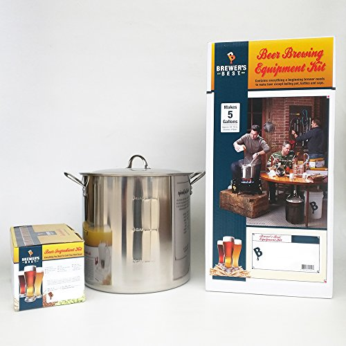 Brewers Best Equipment Kit with Pacific Coast Beer Ingredient Kit and 30 Qt Stainless Steel Brew Kettle