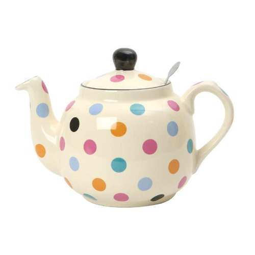London Pottery Spotty 4-Cup Filter Teapot Multi-Colour