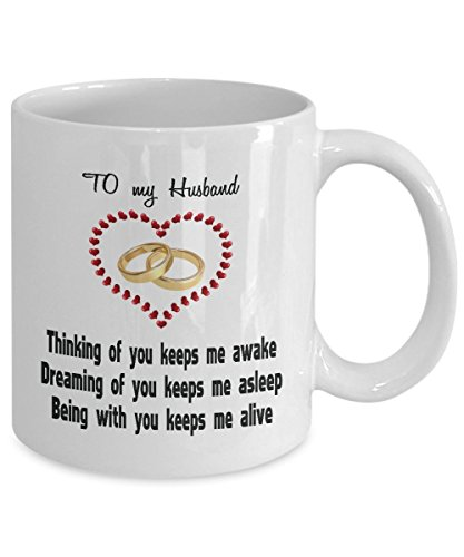 Love Anniversary Birthday Coffee Mug For Husband Message Quote Loving Wife Gift For Men