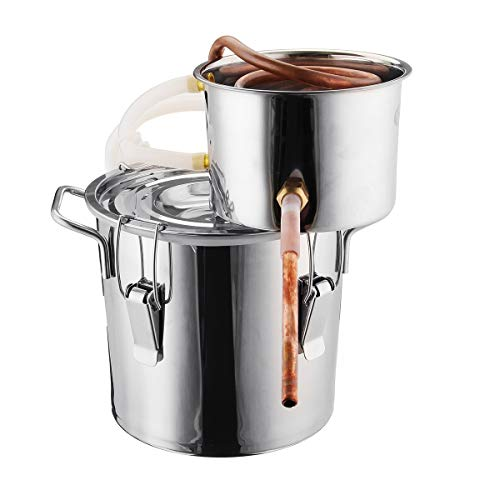 6L Water Alcohol Distiller SENREAL Copper Wine Making Boiler Multi Home DIY Brewing Distilling Kit for Fruit Wine Water Brandy And Refining Plant Extracts