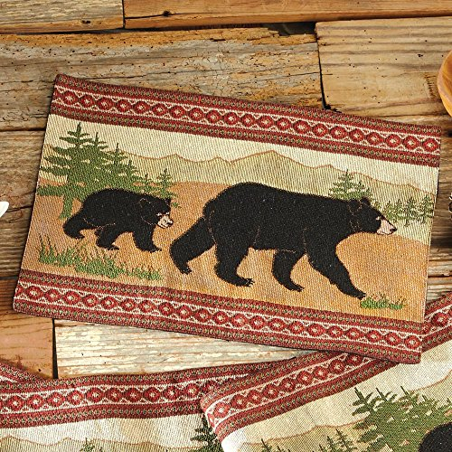 Black Bear Placemat - Wilderness Dining Decor
