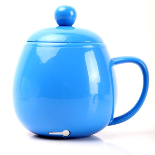 Kingzer USB Electric Kettle Coffee Tea Water Beverage Mug Cup Warmer Heater Blue