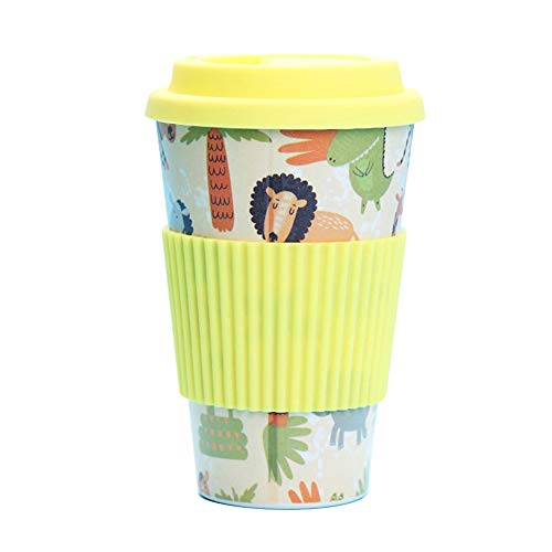 Tea Infuser Travel Mug Eco-Friendly Bamboo Fiber Coffee Cup Silicone Lid And Sleeve