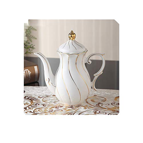China Tea Pot With Infuser 1000Ml Europe Advanced Porcelain Teapot Teatime Ceramic Coffee Pot