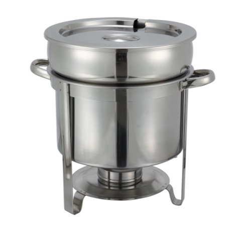 Winco 211 Stainless Steel Soup Warmer 11-Quart Set of 3
