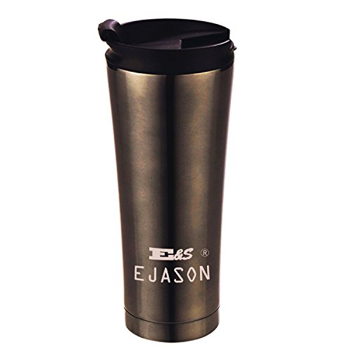 Insulated Coffee Cup Thermos Mug Vacuum Insulation Travel Cup 17 oz  500ML Stainless Steel Leak Proof Drinking Bottle