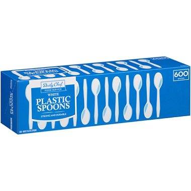 Members Mark White Plastic Spoons 600 ct