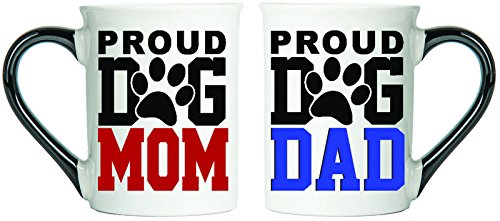 Proud Dog Mom Proud Dog Dad Mugs Set Of Two Coffee Cups Spouse Mugs Ceramic Mugs Custom Gifts By Tumbleweed