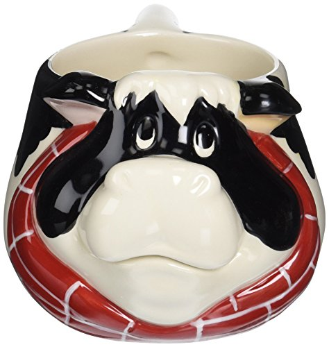 Cosmos 61743 Gifts Ceramic Cow Mug 3-12-Inch Set of 4