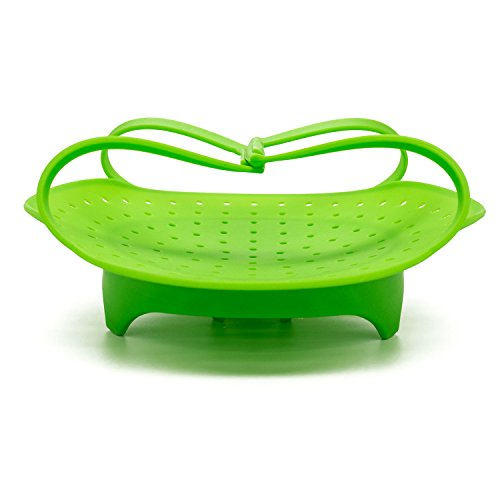 Bon Appetit Kitchenware Silicone Vegetable Steamer- Green - Perfect For Instant Pot