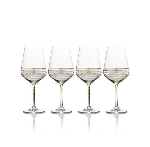 Mikasa Electric Boulevard Gold Water Goblet 20-Ounce Set of 4