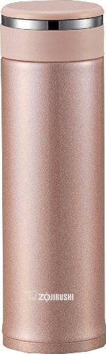 Zojirushi SM-JTE46PX Stainless Steel Travel Mug with Tea Leaf Filter 16-Ounce046-Liter Pink Champagne
