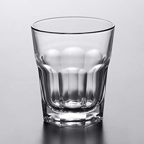 Set of 6 Libbey 15233 Gibraltar DuraTuff 13 Ounce Double Rocks Glass with Signature Party Picks