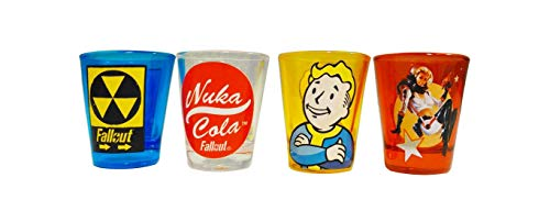 JUST FUNKY Fallout Shot Glasses Set of 4 Officially Licensed