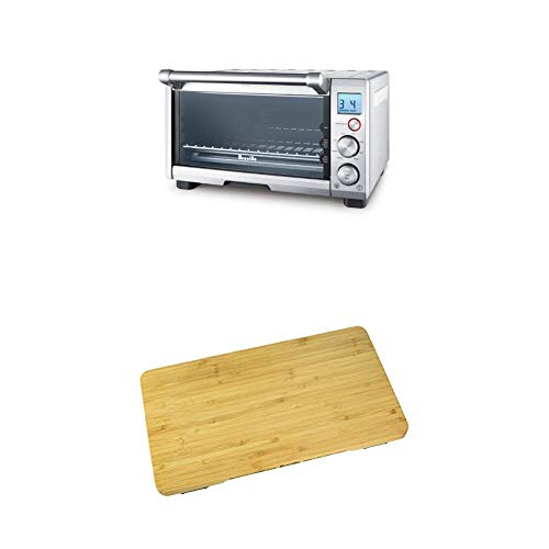 BREVILLE the Compact Smart Oven Countertop Electric Toaster Oven BOV650XL with Breville BOV650CB Bamboo Cutting Board for use with BOV650XL Compact Smart Oven
