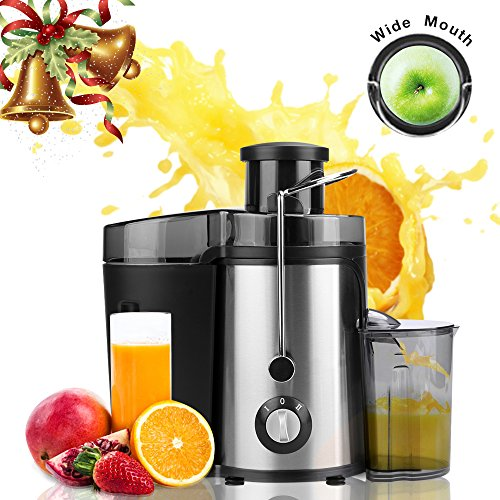 Juicer Juice Extractor High Speed for Fruit and Vegetables Dual Speed Setting Centrifugal Fruit Machine Powerful 350 Watt with Juice Jug Premium Food Grade Stainless Steel