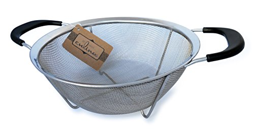 Culina Mesh Strainer Basket wHandles - 9 dia Stainless Steel