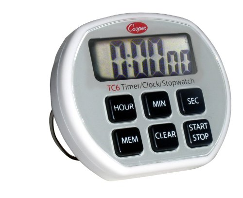 Cooper-Atkins TC6-0-8 Digital TimerClockStopwatch with Splashproof Case 24 Hours Unit Range